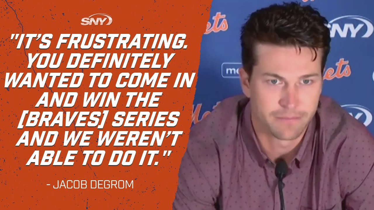 Jacob deGrom frustrated Mets couldn't win Braves series | Mets Post Game | SNY