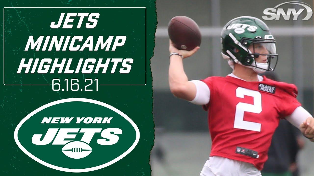 Jets rookie QB Zach Wilson shines under center at Wednesday minicamp   Jets Minicamp   SNY