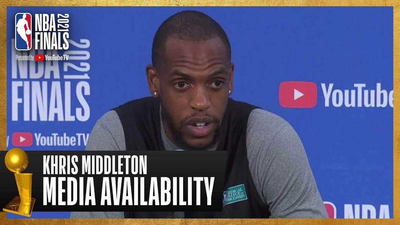 Khris Middleton #NBAFinals Media Availability | July 16th, 2021