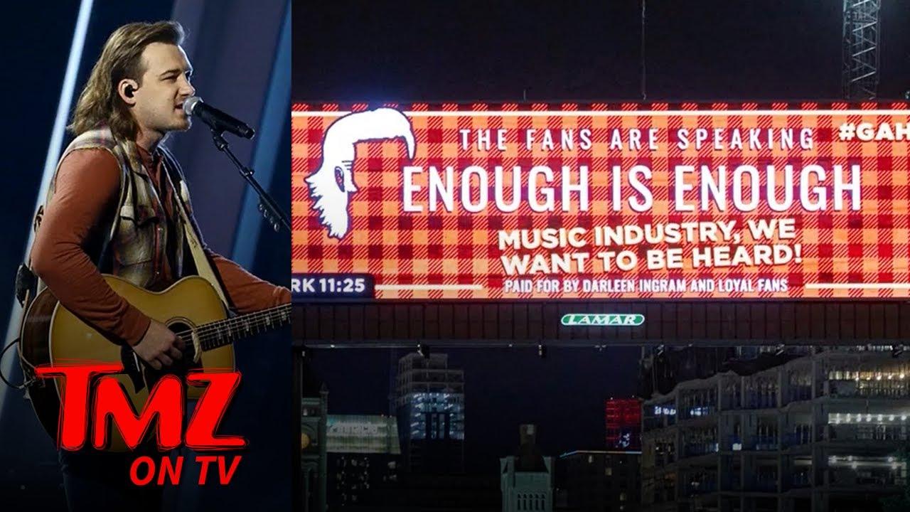 Morgan Wallen Fan Billboards Say 'Enough is Enough' as CMT Awards Approach   TMZ TV