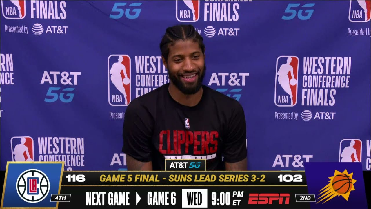 PG on His Playoff Career High in Game 5 | Postgame Press Conference