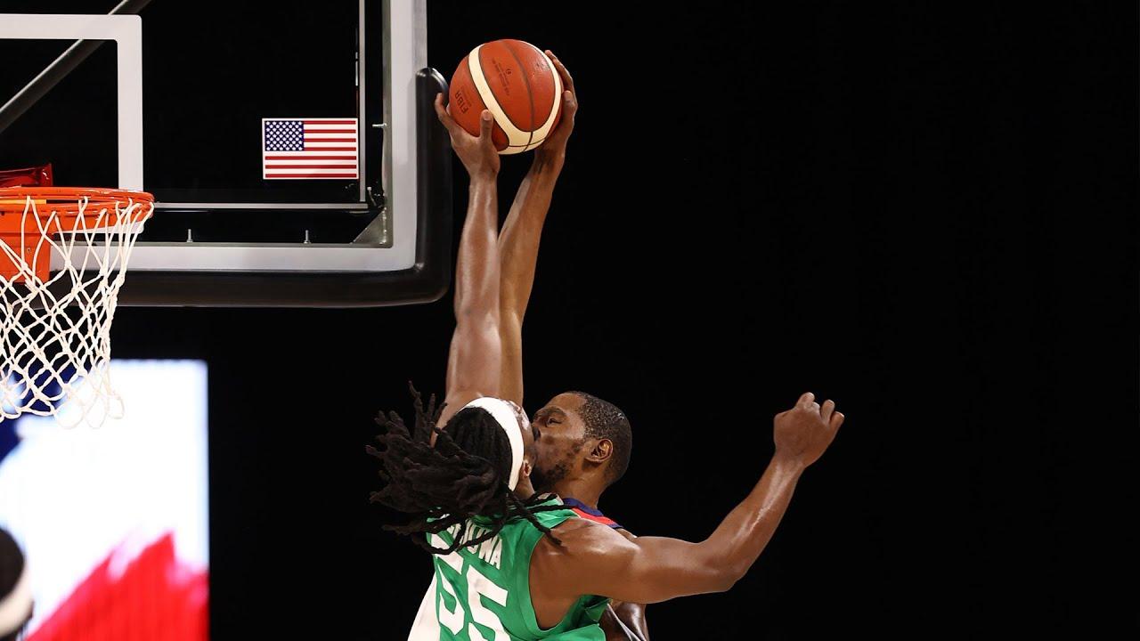 Precious Achiuwa BIG BLOCK for Nigeria vs USA! 💪