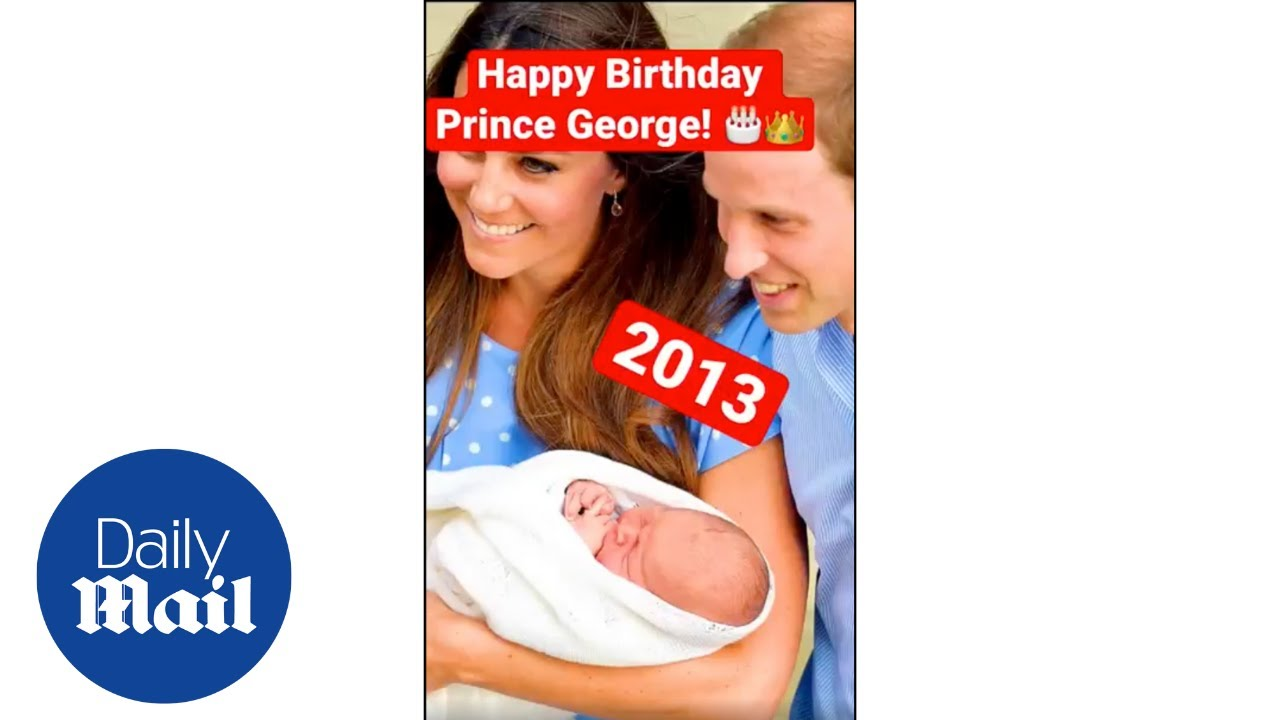 Prince George birthday: Prince William and Kate Middleton's son in every year of his life #Shorts