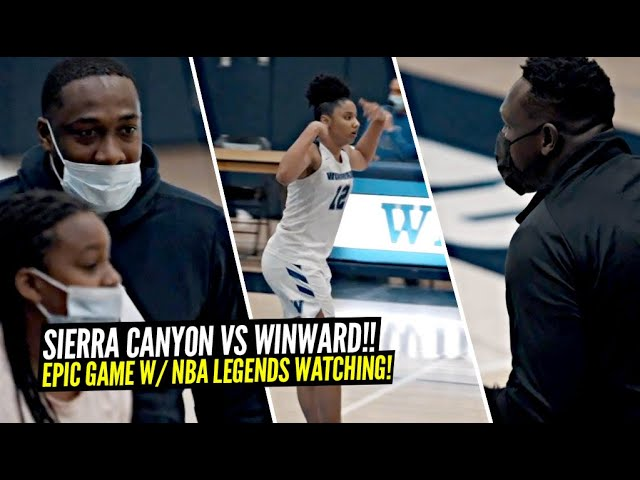 Sierra Canyon vs Windward Turned Out To BE EPIC w/ Gilbert Arenas & ZBo Watching! Juju Drops 44 Pts!