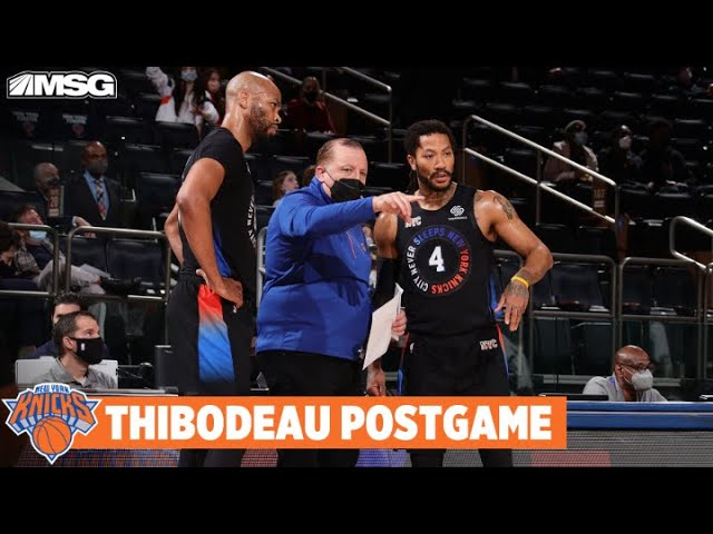 Thibs Proud of Derrick Rose's Production Off Bench   New York Knicks