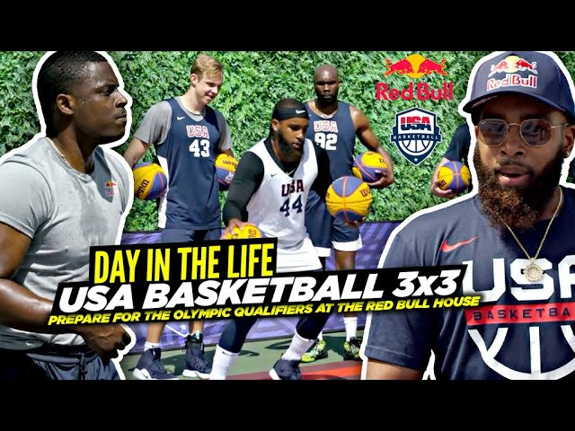 USA Basketball 3×3 Squad Prepare For The Olympic Qualifiers! Day In The Life at Red Bull 3x House!