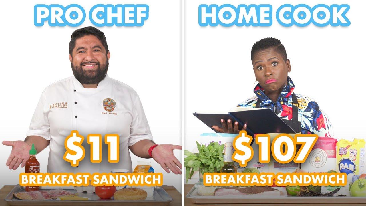 $107 vs $11 Breakfast Sandwich: Pro Chef & Home Cook Swap Ingredients | Epicurious