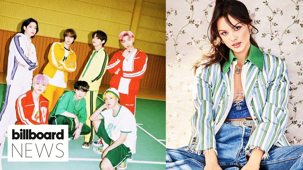 BTS Scores Fifth Straight Week at No.1 & Olivia Rodrigo Tops Billboard 200 Chart I Billboard News