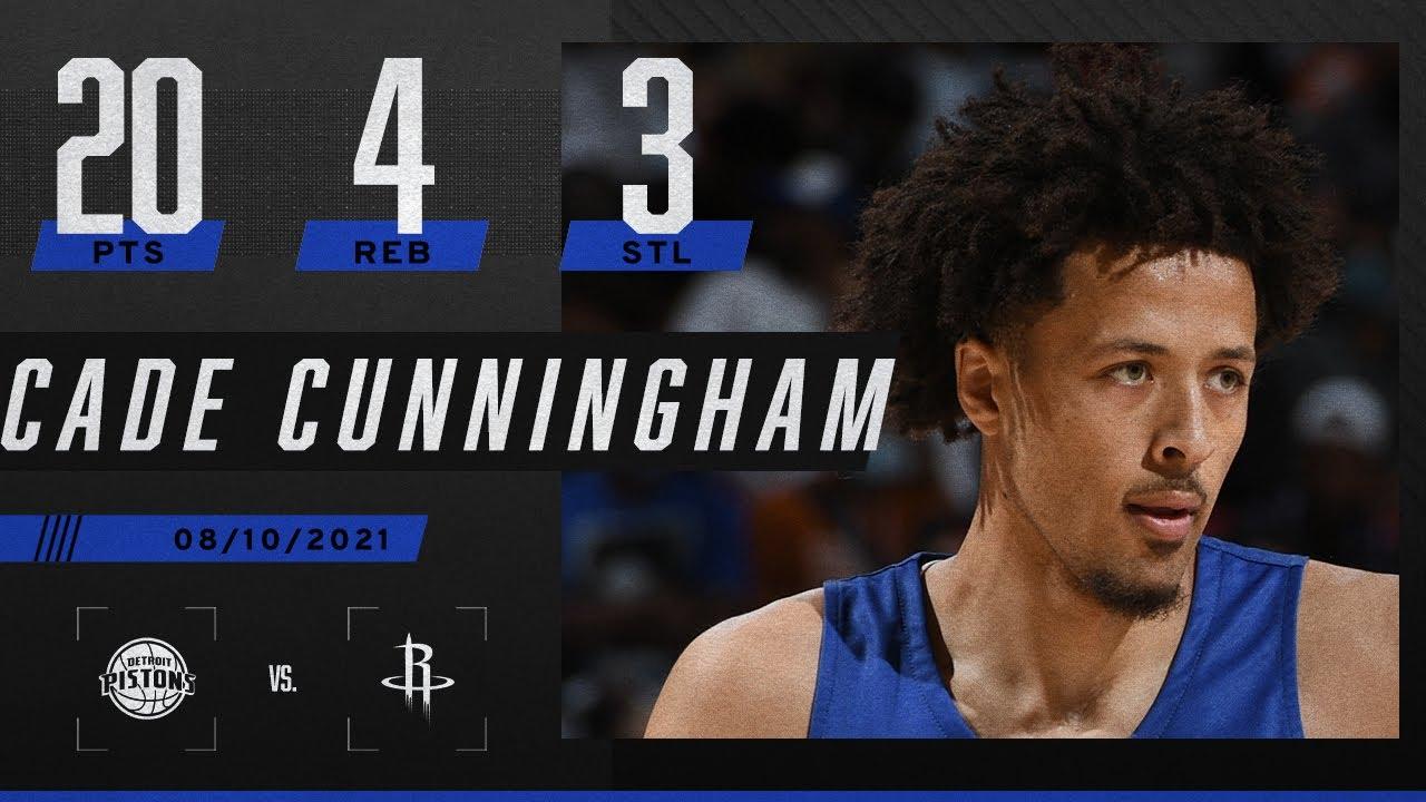 Cade Cunningham puts up 20 PTS in Pistons' loss vs. Rockets