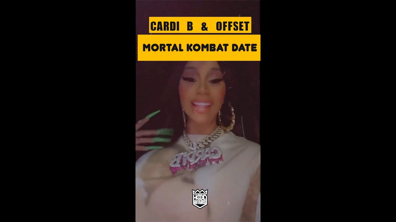 CARDI B AND OFFSET AFTER THEIR MORTAL KOMBAT DATE #SHORTS
