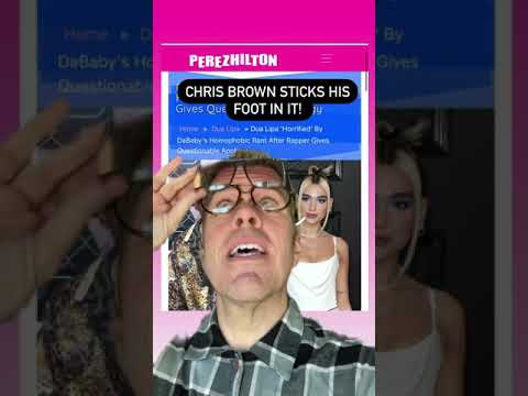 Chris Brown Sticks His Foot In It! | Perez Hilton