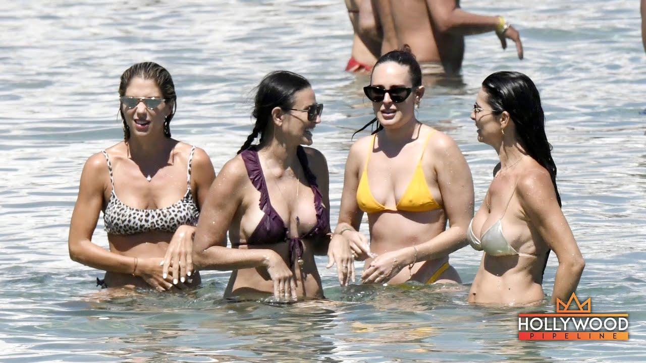 Demi Moore vacays with daughter Rumer Willis in Mykonos, Greece