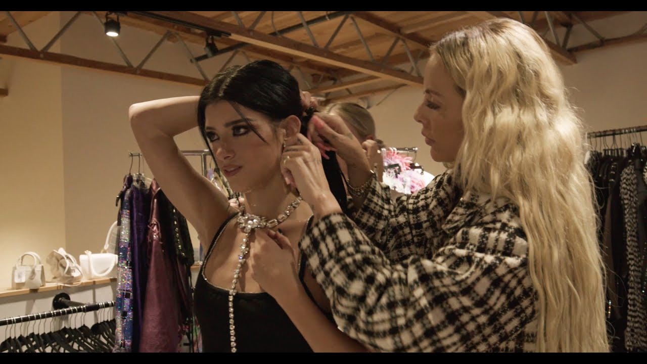 Getting Styled for the Psycho Music Video FT Maeve Reilly | Dixie D'Amelio
