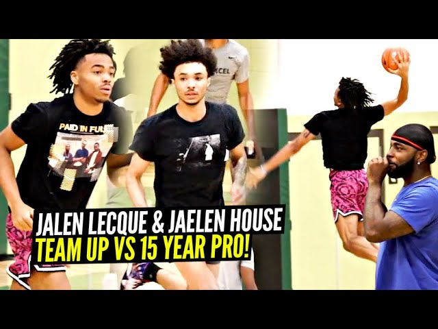 """Jalen Lecque & Jaelen House GO AT IT vs 15 Year Pro at Zona Runs!! """"THEY IN THEIR BAG!"""""""
