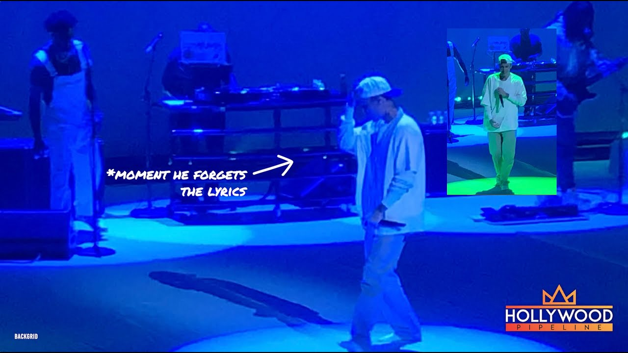 Justin Bieber forgets the words to where are ü now at the Wynn in Las Vegas