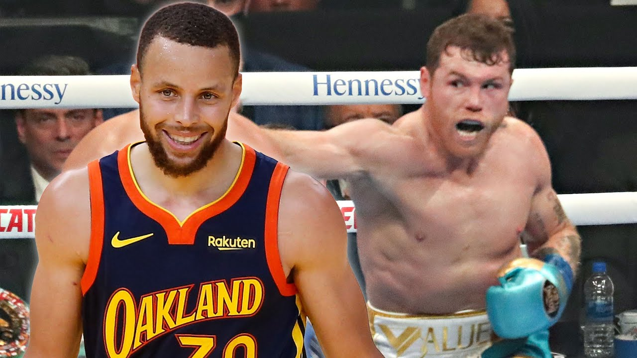 Steph Curry Nearly Hit In The Face By Canelo Alvarez In Head To Head Boxing Match