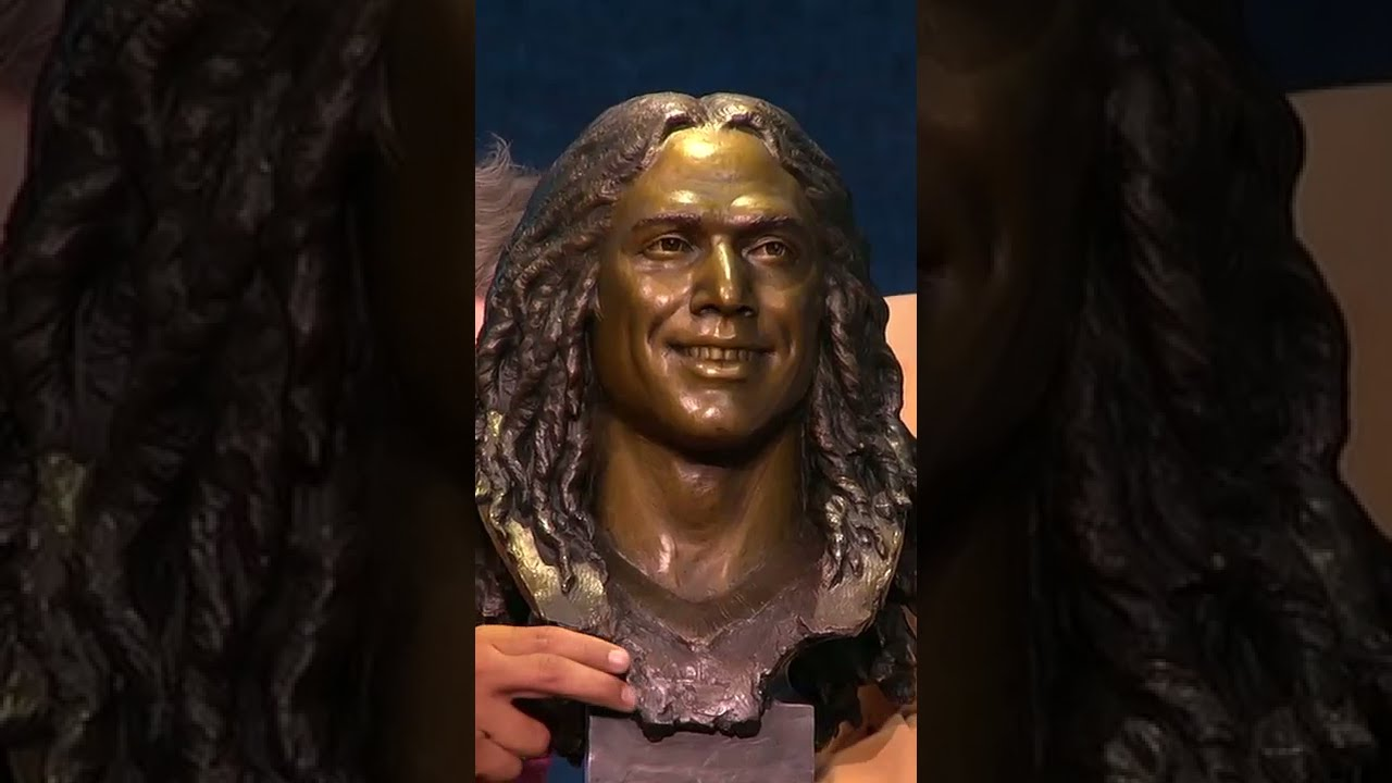 Troy Polamalu shows off the hair on his HoF statue #Shorts