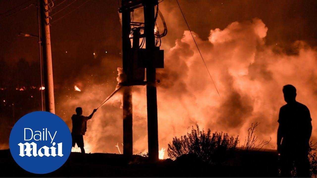 Wildfires rage for the seventh day in Turkey's Mediterranean region