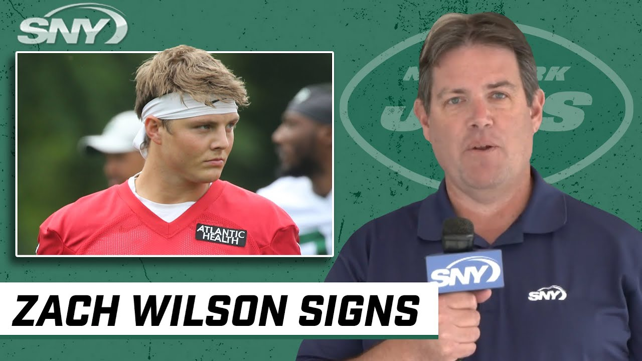 Zach Wilson agrees to contract terms with the Jets | SNY NFL Insider Ralph Vacchiano | SNY