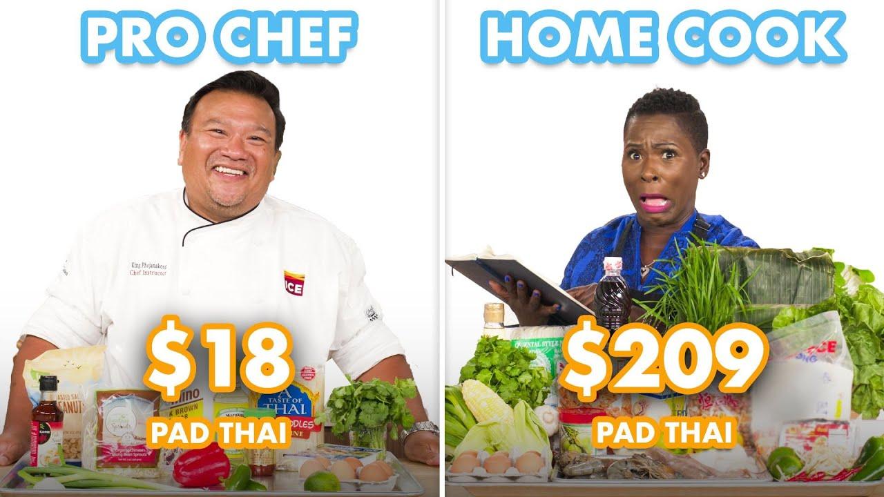 $209 vs $18 Pad Thai: Pro Chef & Home Cook Swap Ingredients | Epicurious